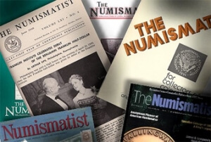 Multiple covers of The Numismatist