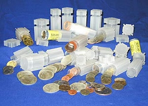 Solid Top 50 State Quarter Coin Jar Display and Storage Case