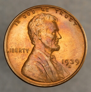 1939 s lincoln cent obverse