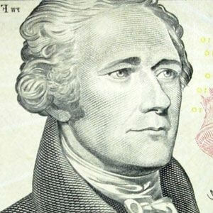 alexander hamilton from the $10 bill