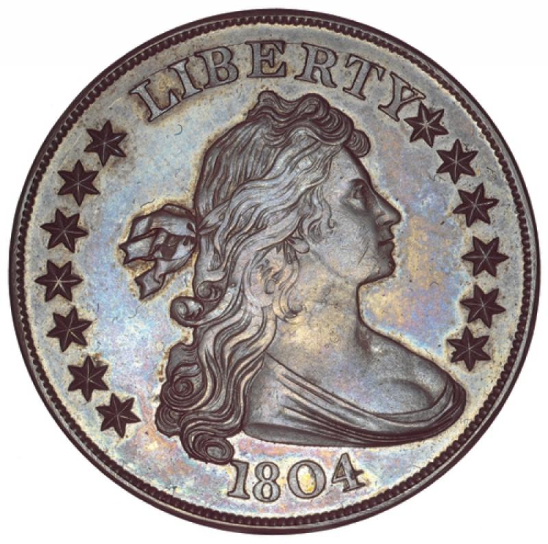1804 draped bust dollar obverse
