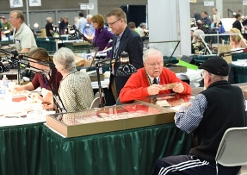 booth at a coin show