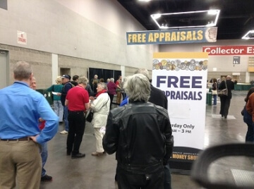 free appraisal signs at a show