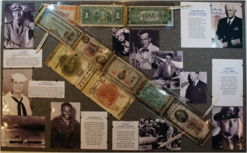 collector exhibit of paper money at a show