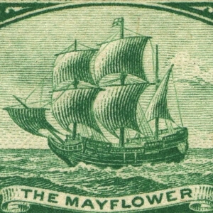 image of the mayflower on paper money