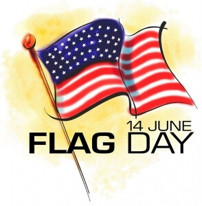flag day graphic with u.s. flag