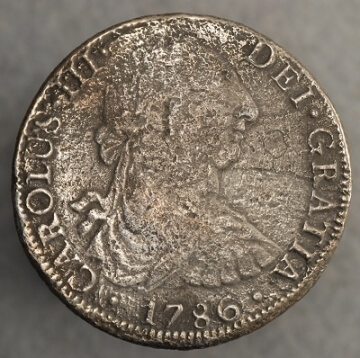 1786 8 real obverse