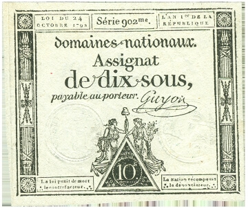 french banknote