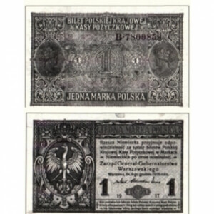 old black and white foreign paper money