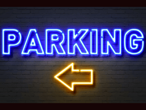 parking neon sign