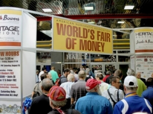 world's fair of money coin show crowd