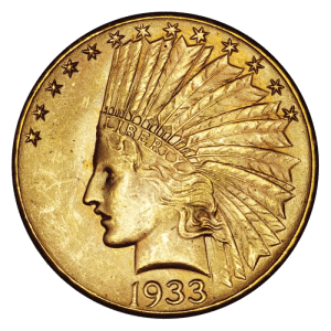 1933 gold eagle transparent