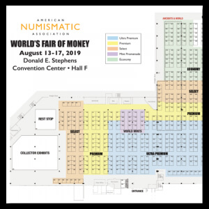 floor map for world's fair of money wfm