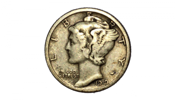1919 winged liberty head dime