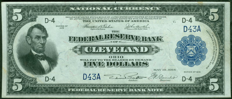 federal reserve note front