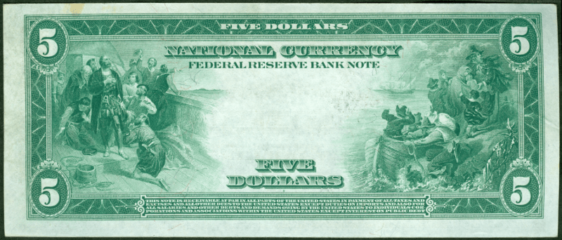 federal reserve note back