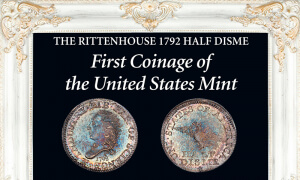 rittenhouse example of 1792 half disme