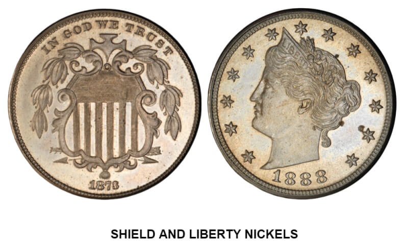 SHIELD AND LIBERTY NICKELS