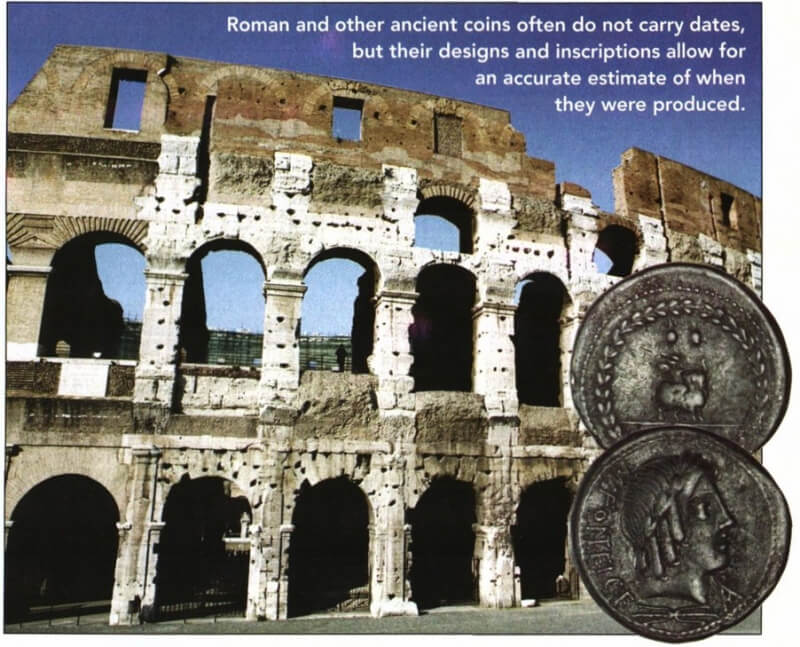 collosseum and ancient coins