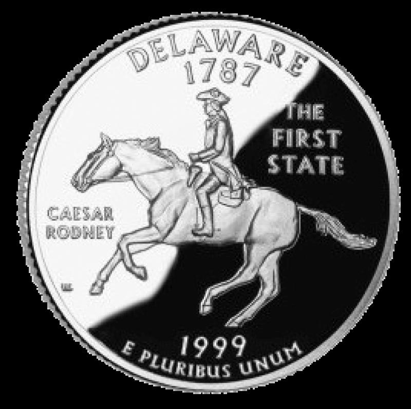 1999 deleware state quarter reverse