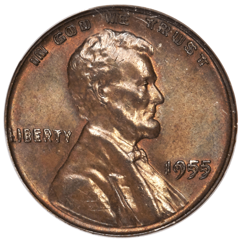 1955 Double-die cent