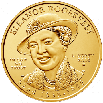 Eleanor Roosevelt Coin Obverse
