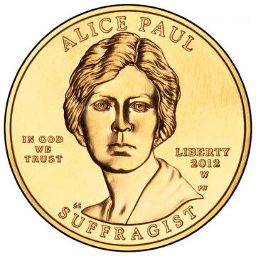 Alice Paul Coin Obverse