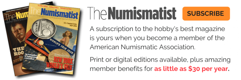 subscribe to the numismatist coin collecting magazine