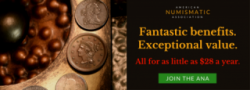 American Numismatic Association Benefits Banner